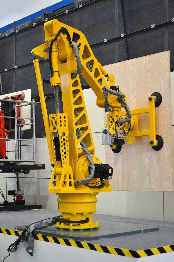 Industrial robot arm royalty free stock photos