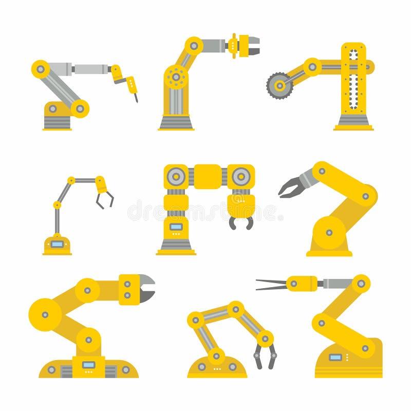 Industrial robot arm royalty free illustration