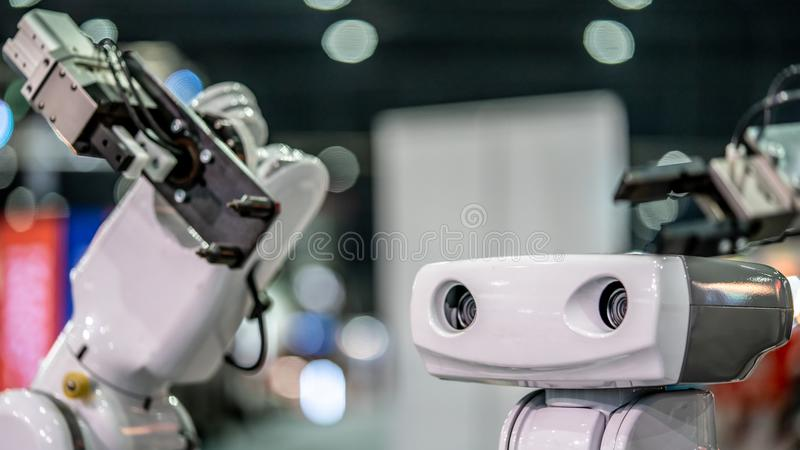 Industrial Robot Mechanical Arm Hand royalty free stock photo