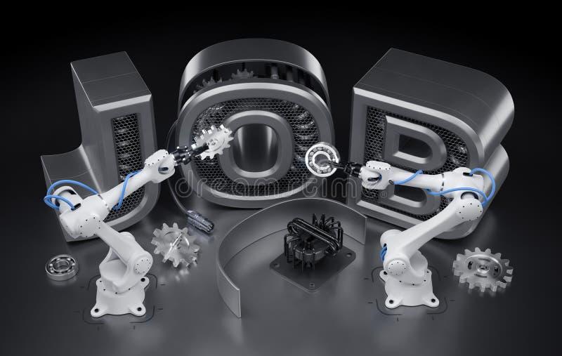 Robotics Job royalty free illustration