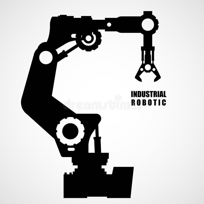 Industrial robotics - production line machinery stock illustration