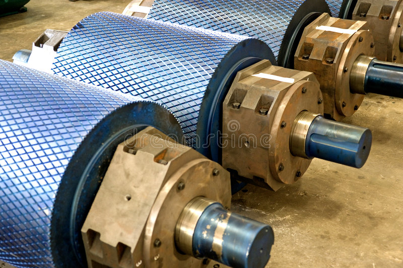 Download Industrial Rollers At A Foundry Stock Image - Image: 5268333