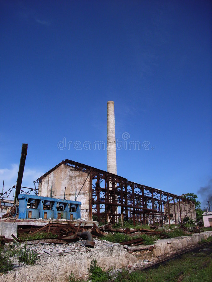 Industrial ruin stock images