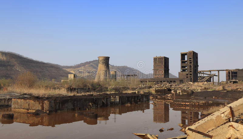Industrial ruins royalty free stock image