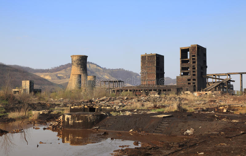 Download Industrial ruins stock image. Image of copsa, dirty, poison - 13118717