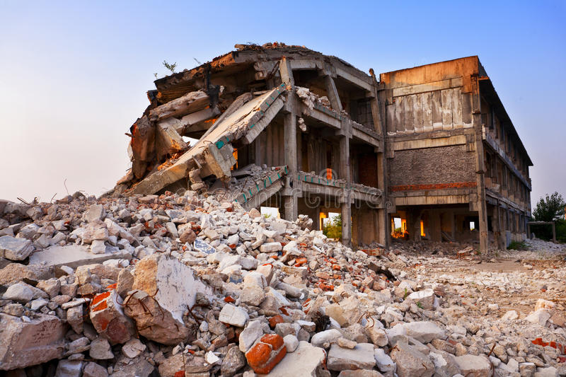 Industrial ruins royalty free stock photos