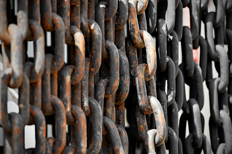 Industrial rusty chain royalty free stock photo