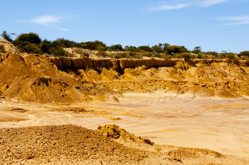 Industrial Sand Pit royalty free stock photography