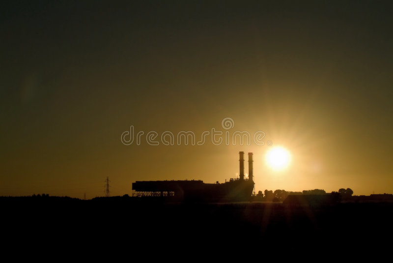Industrial scene royalty free stock photos