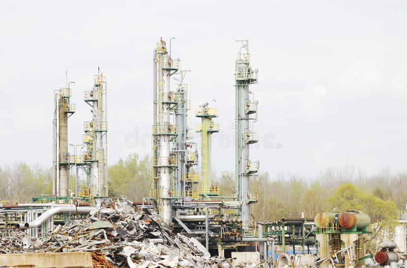 Download Industrial Scrap Metal stock image. Image of pipeline - 24440341