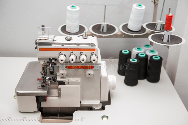 Industrial sewing machine stock images