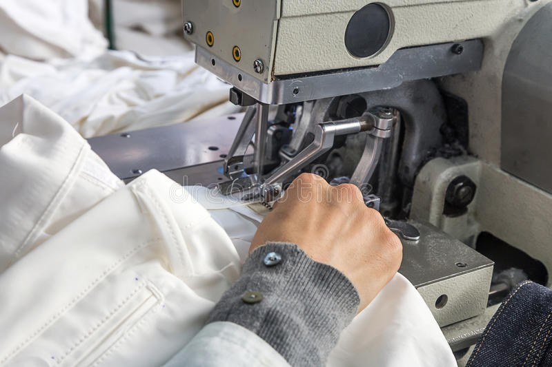industrial sewing machines with sewing machine operator