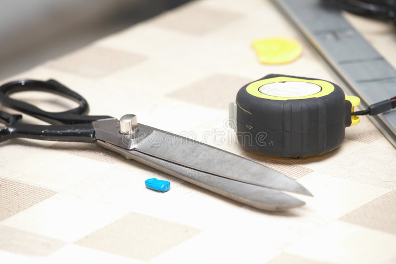 Download Industrial sewing tools stock image. Image of marker, sharp - 4379863