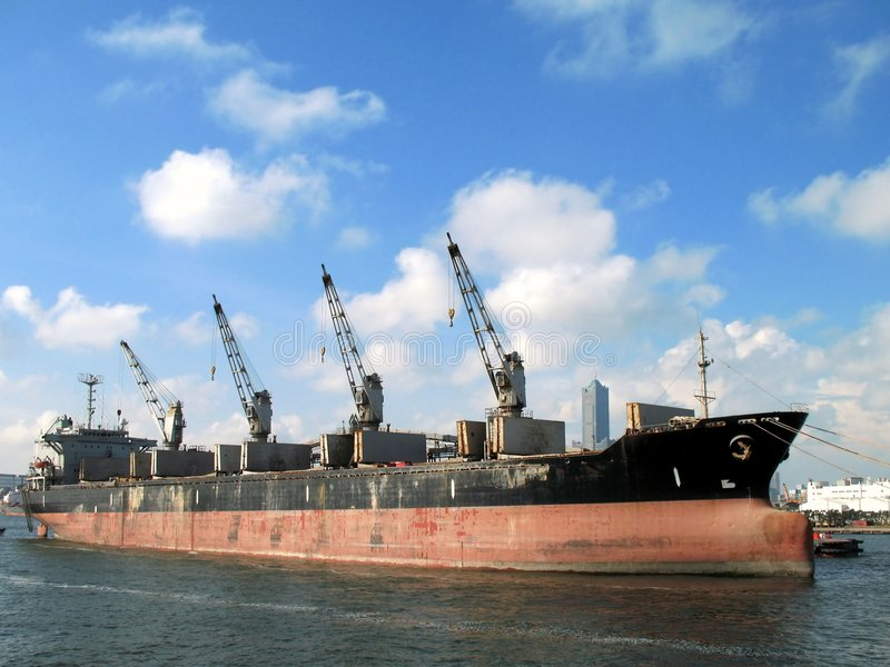 Industrial Ship royalty free stock photo