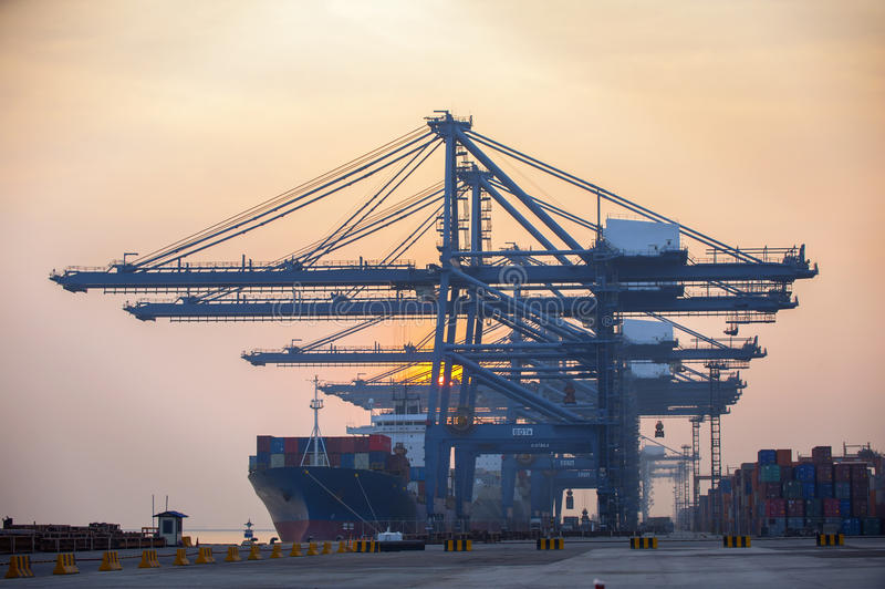 Industrial shipping stock image