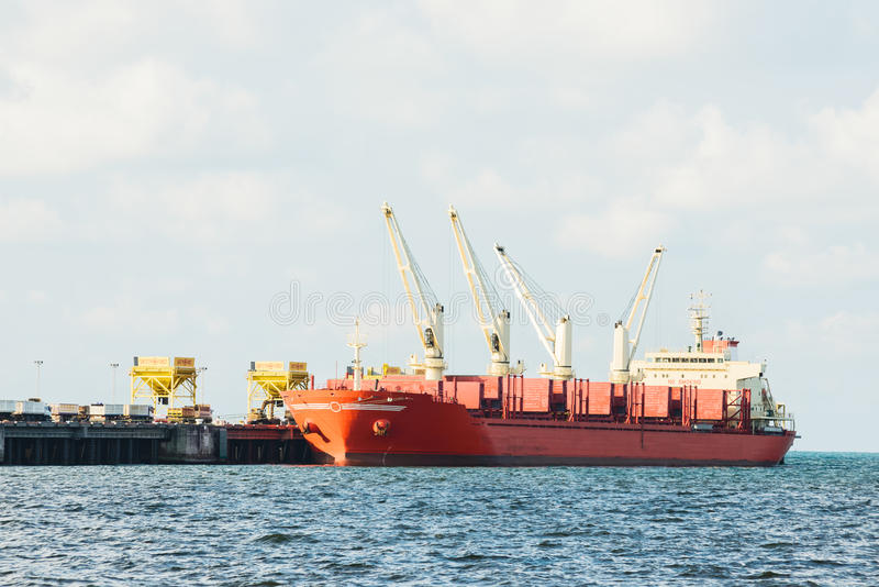 Download Industrial shipping port stock image. Image of large - 41354887