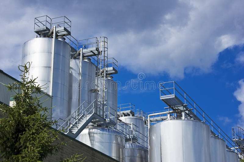 Industrial Silos stock photography