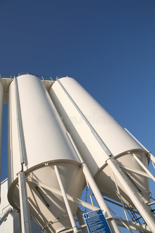 Industrial Silos royalty free stock images
