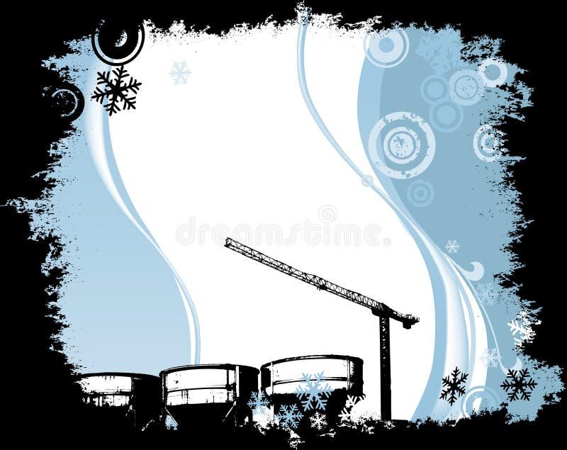 Industrial site vector illustration