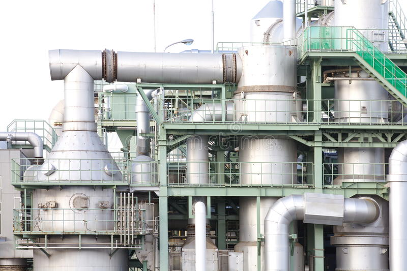 Industrial site of the chemical industry royalty free stock photography