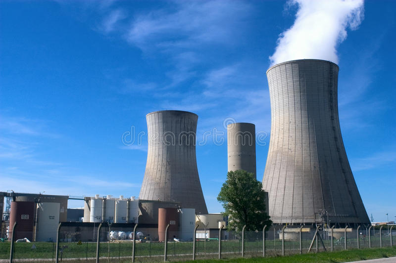 Industrial Site In Nuclear Power Stock Photography