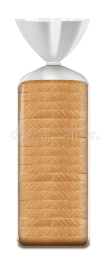 Industrial sliced bread market packaging royalty free stock image