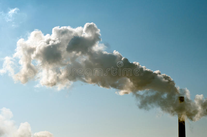 Download Industrial smoke pipe stock image. Image of dioxide, exhaust - 24275929