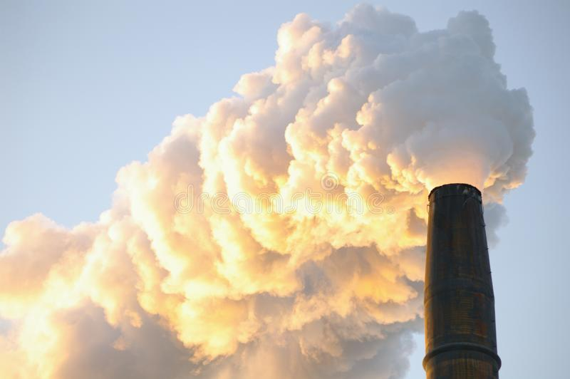 Industrial Smoke Stack stock photo