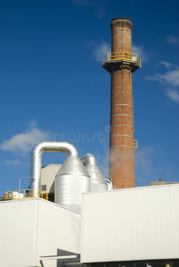 Industrial Smokestack Royalty Free Stock Photography