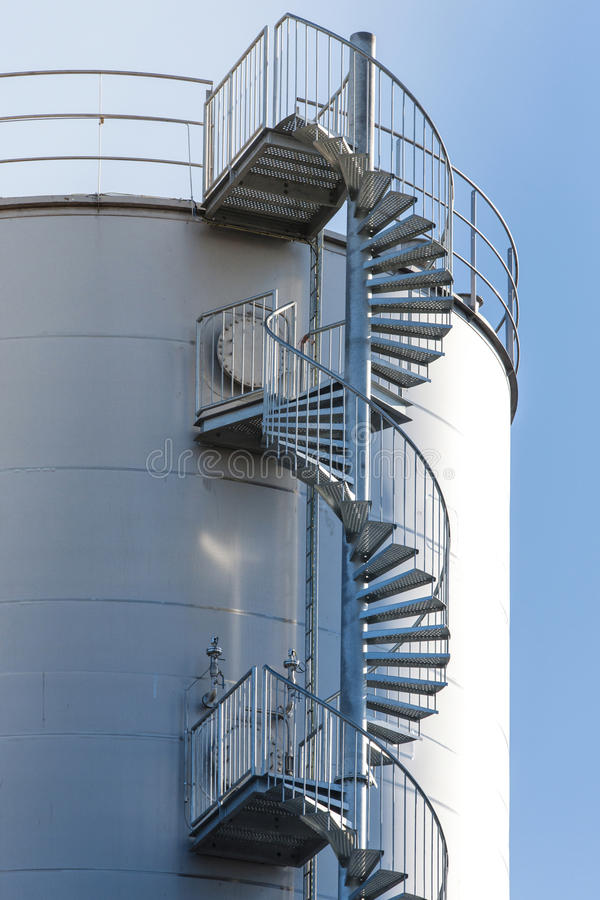 Download Industrial Spiral Stair Circular Stock Photo   Image Of Inside,  Going: 61825494