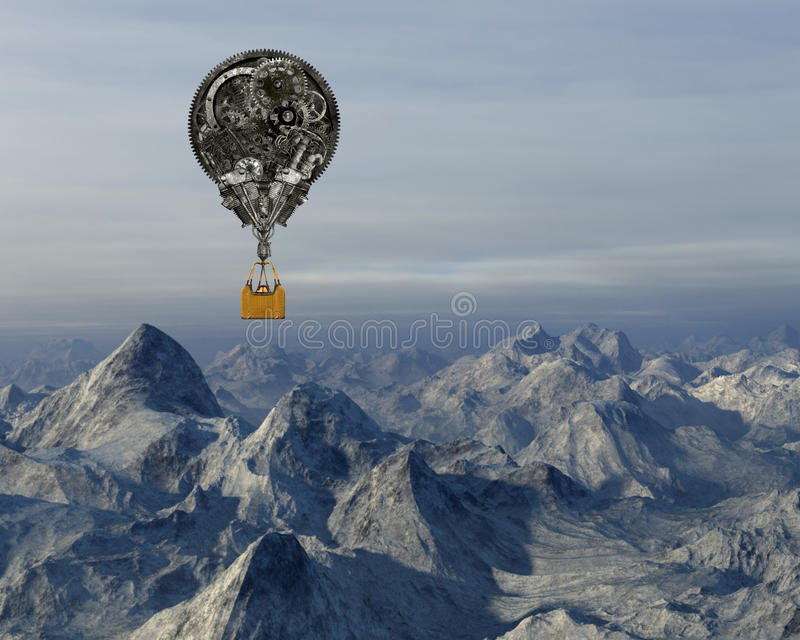 Industrial Steampunk Hot Air Balloon royalty free stock images