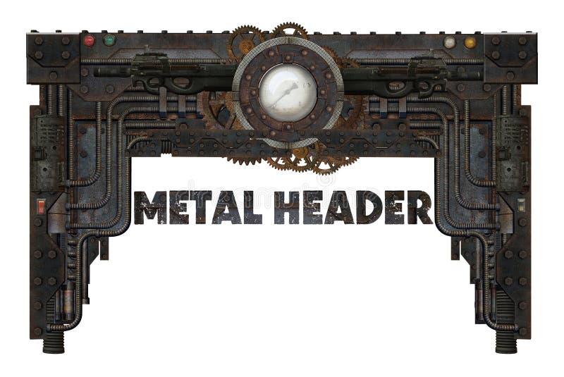Metal frame. Industrial or steampunk style metal frame