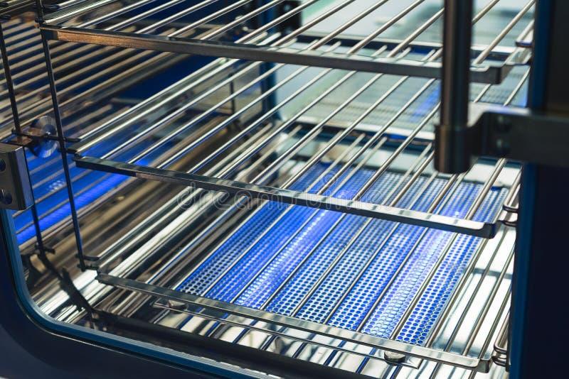 Industrial sterilization cabinet. Equipment for sterilization of medical instruments stock photo