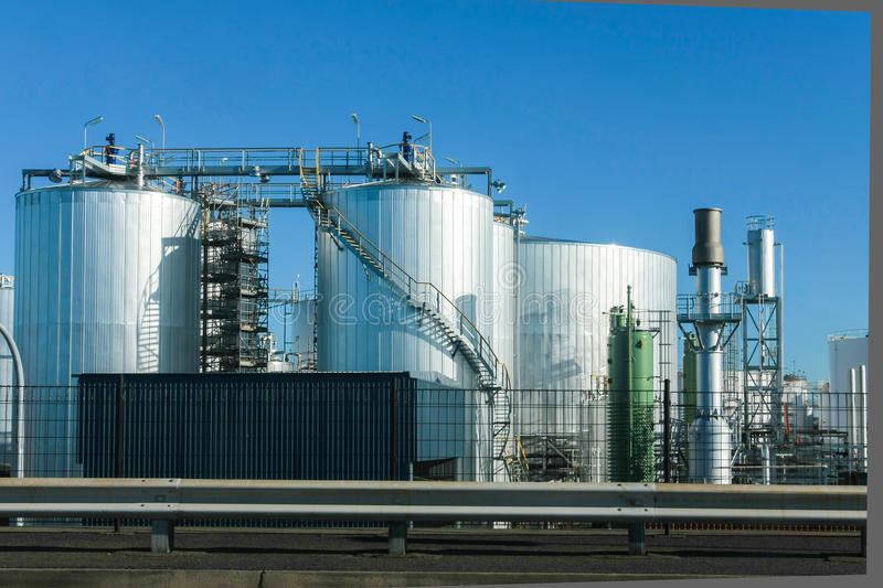 Download Industrial Storage Tanks And Blue Sky Stock Image - Image: 26806975