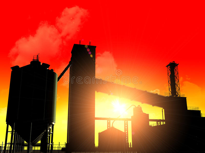 Download Industrial structure stock illustration. Illustration of research - 10908862