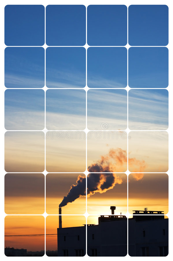 Industrial sunrise royalty free stock photos