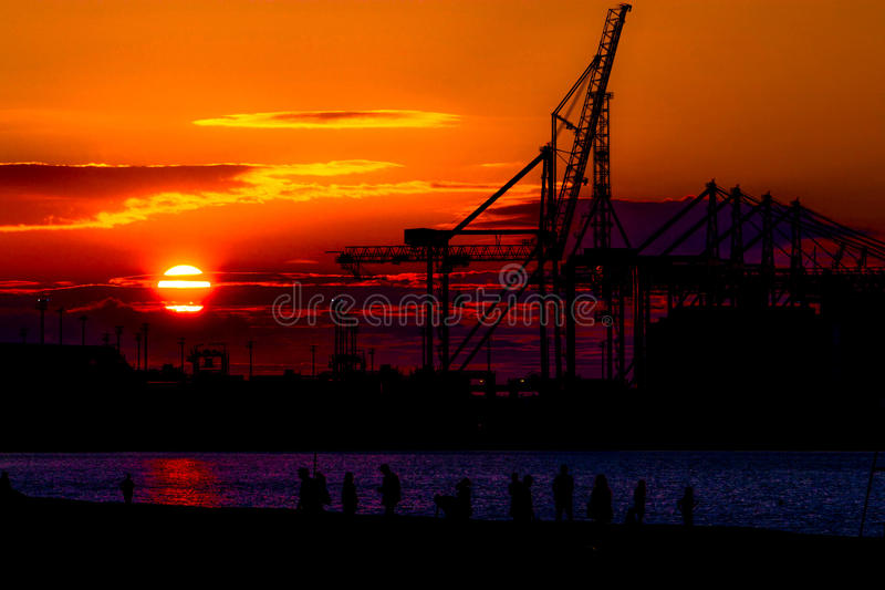 Industrial sunset 2 royalty free stock images