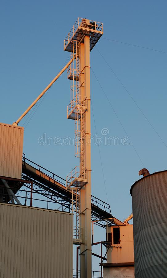 Download Industrial sunset light 1 stock image. Image of sheds, tank - 938639