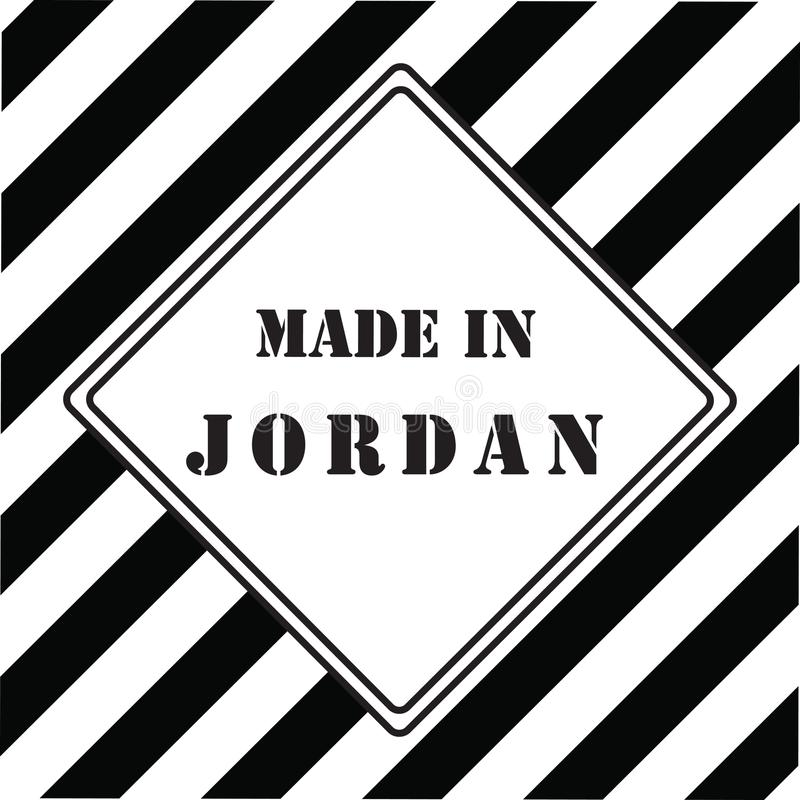 Made In Jordan Stock Vector Illustration Of Made Black 114713669