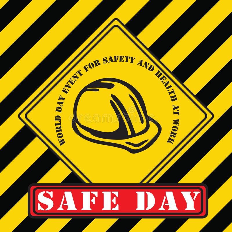 Industrial symbol - World Day for Safety stock illustration