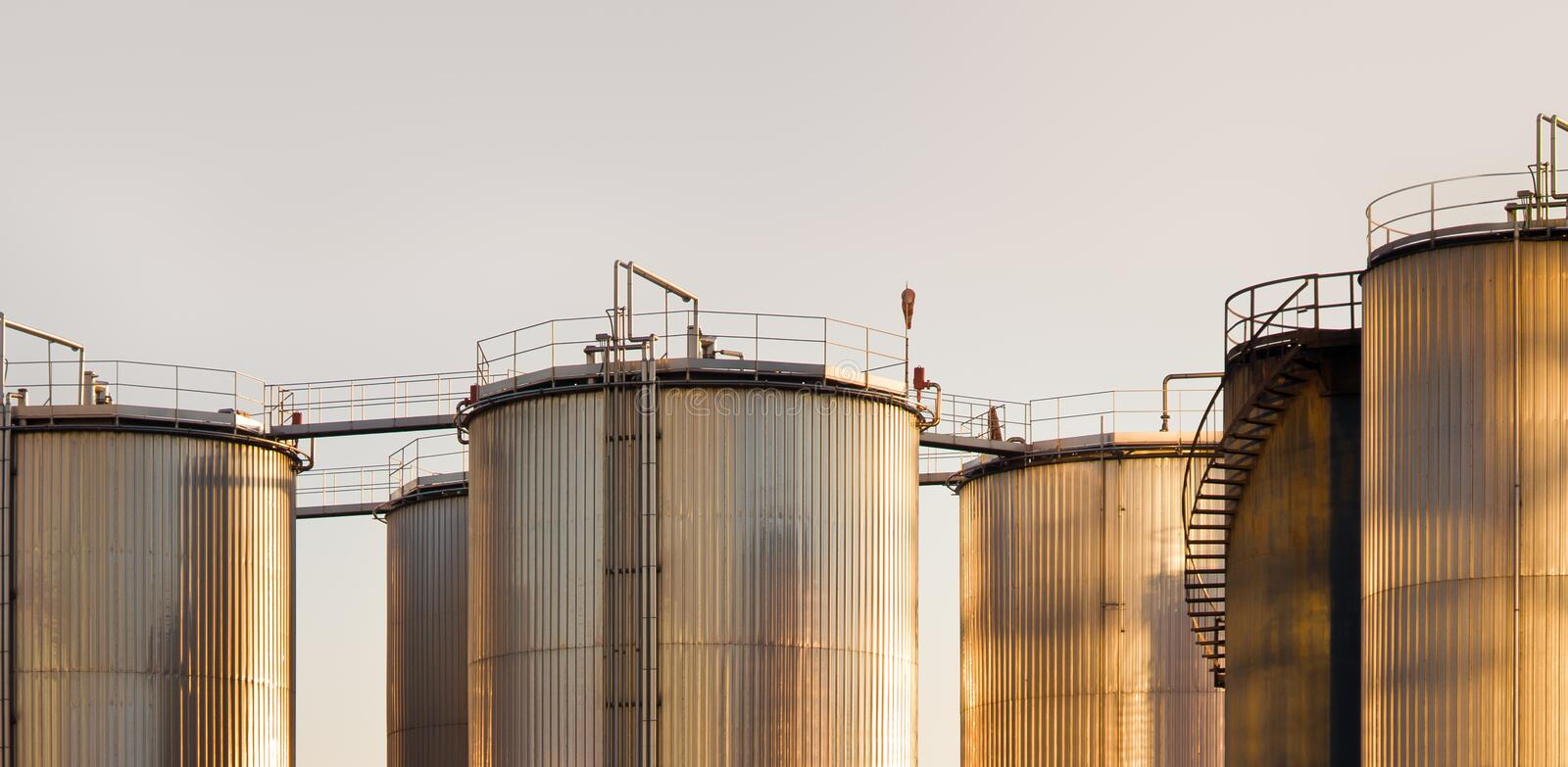 Download Industrial tanks stock image. Image of built, refinery - 23629689