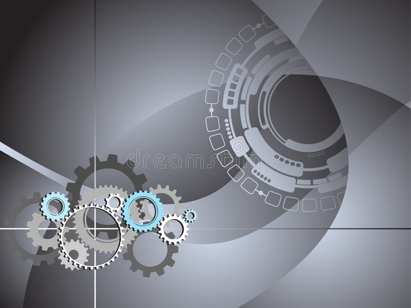 Industrial Technology Business Gears Background royalty free illustration