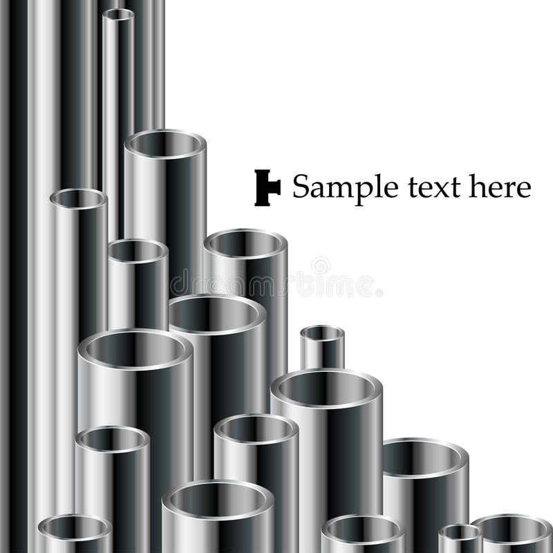 Industrial text background with pipe set royalty free illustration