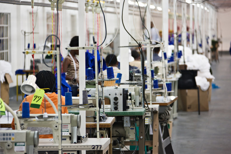 Industrial textile factory royalty free stock image