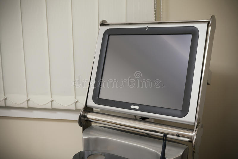 Industrial touch screen monitor stock image