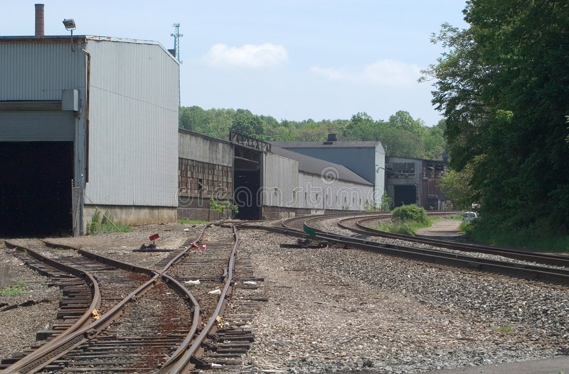 Industrial Tracks royalty free stock photo