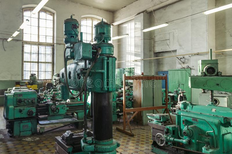 Old Workshop Machinery Drill Stock Images - Download 616