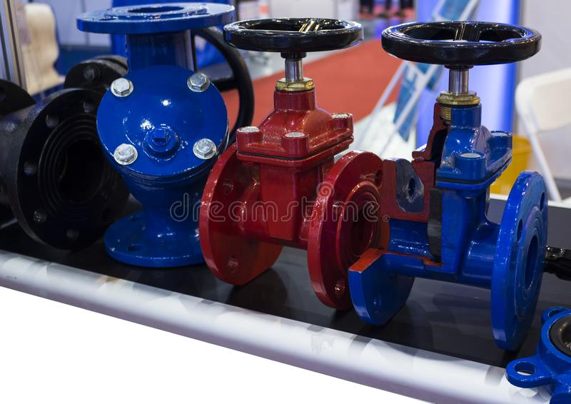 industrial valve ; for controlling piping system stock photography
