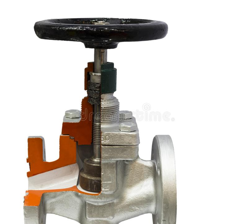 industrial valve ; for controlling piping system stock photo