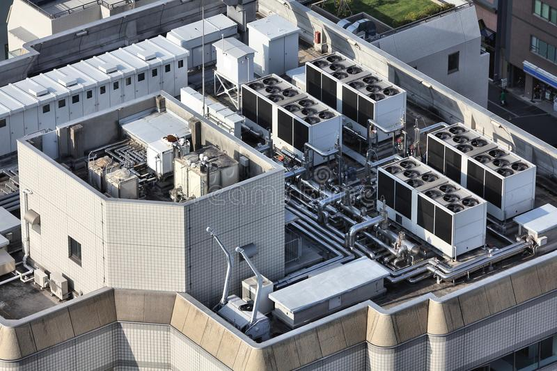 Industrial Cooling Units : Industrial ventilation stock photo image of rooftop